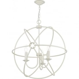 ORB 3 light cream gyroscope ceiling pendant light