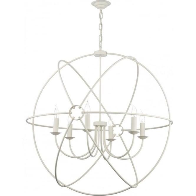 ORB 6 light cream gyroscope ceiling pendant  sc 1 st  Bespoke Lights & Large Ceiling Pendant Light with Long Drop White Gyroscope on Chain azcodes.com