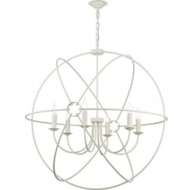ORB 6 light cream gyroscope ceiling pendant