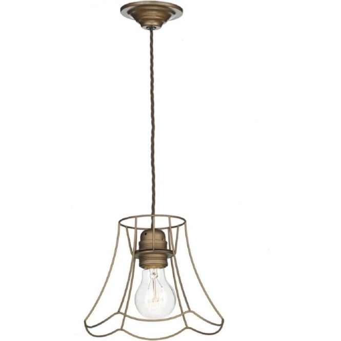 David Hunt Lighting OREGON small bronze ceiling pendant on braided cord cable