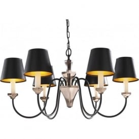 OTHELLO traditional 6 light bronze & black ceiling light