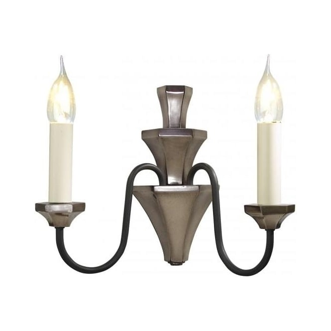 Artisan Lighting OTHELLO traditional bronze & black candle style wall light
