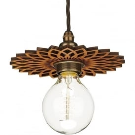 PEGASUS easy fit wooden pendant shade accessory - small