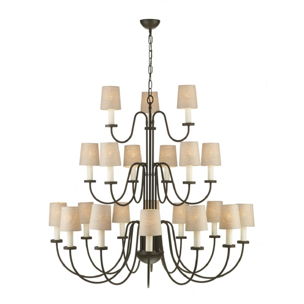 Dark Chocolate Brown Regency Chandelier with 3 Tiers and