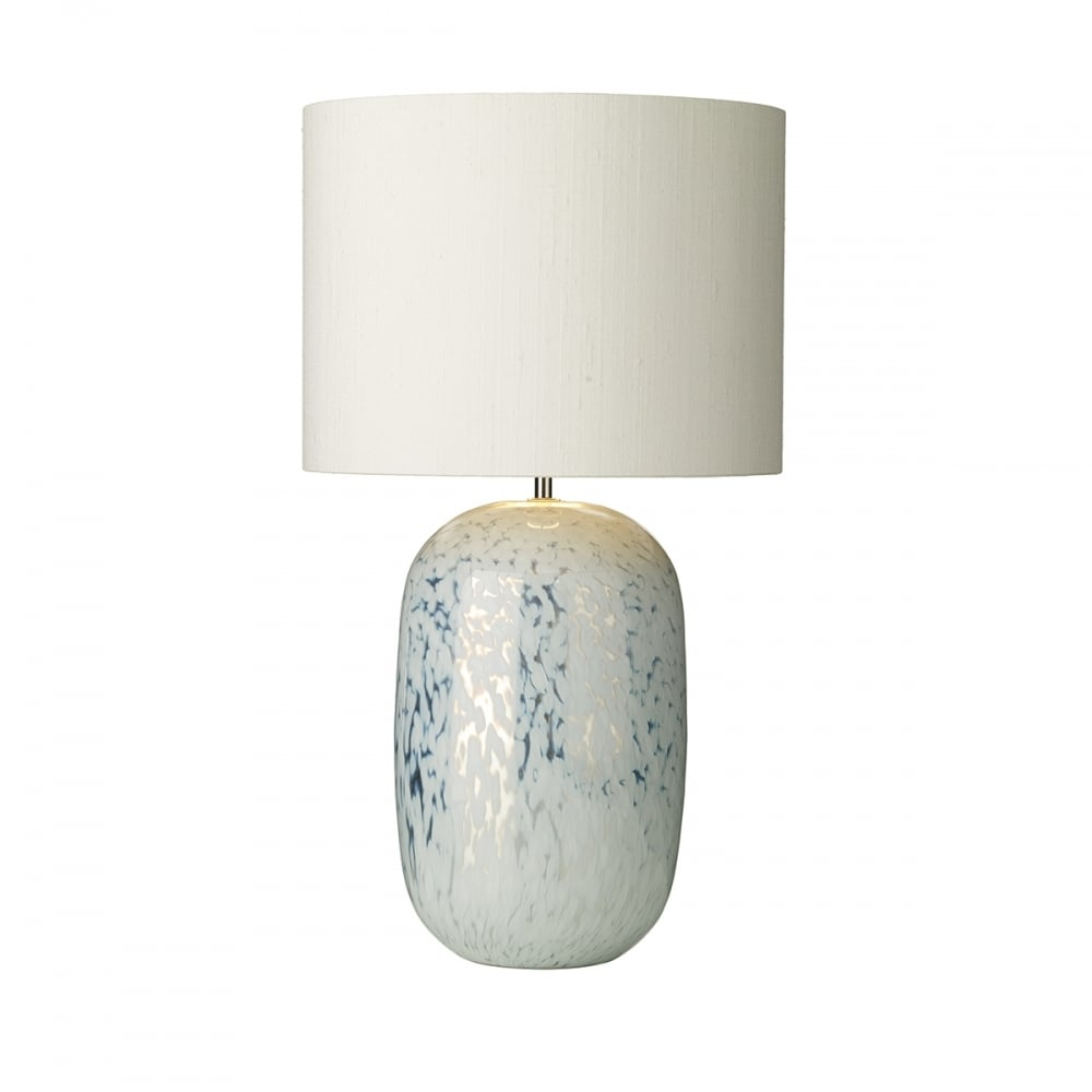 Table lamp with silver white mirror glass base and ivory white shade pura white and silver mirrored table lamp with ivory silk shade aloadofball Images