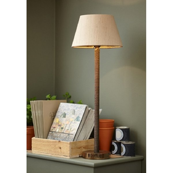 Traditional Bronze Table Lamp With Choice Of Coloured Silk Shades