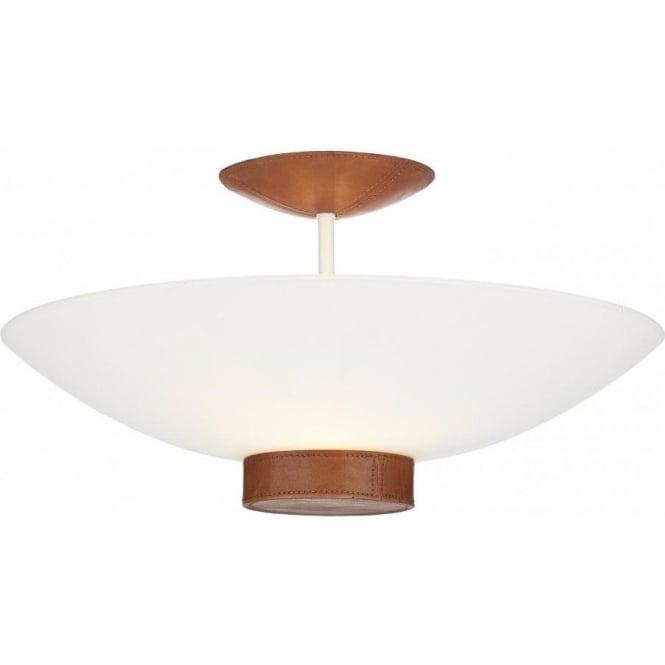 Ceiling Light Tanned Leather Detail. SADDLER Uplighter for Low Ceilings.  sc 1 st  Bespoke Lights & Ceiling Light Tanned Leather Detail. SADDLER Uplighter for Low ... azcodes.com