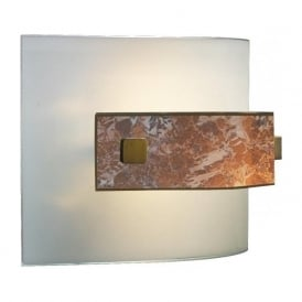 SAVOY curved Italian glass wall washer light