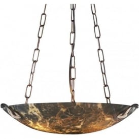 SAVOY dark marble glass uplighter ceiling light