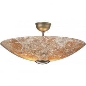 SAVOY light marble glass semi flush ceiling uplighter