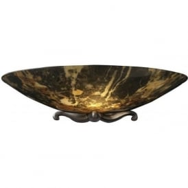 SAVOY traditionaldark brown marble glass uplighter wall light