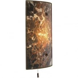 SAVOY wall panel light dark brown marble glass