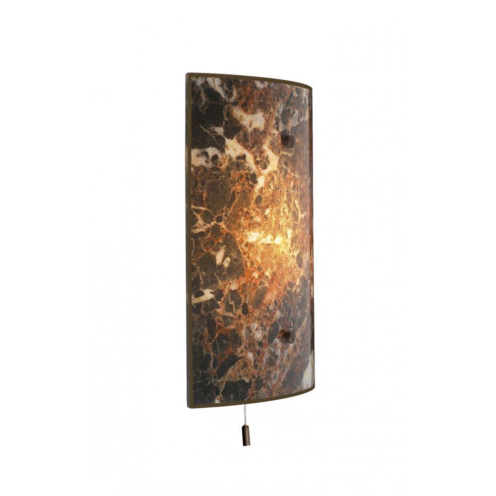 Light Wall Panels : Wall panel light savoy italian dark marble glass with