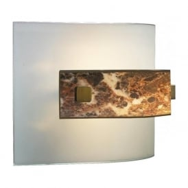 SAVOY wall washer light with dark marble glass