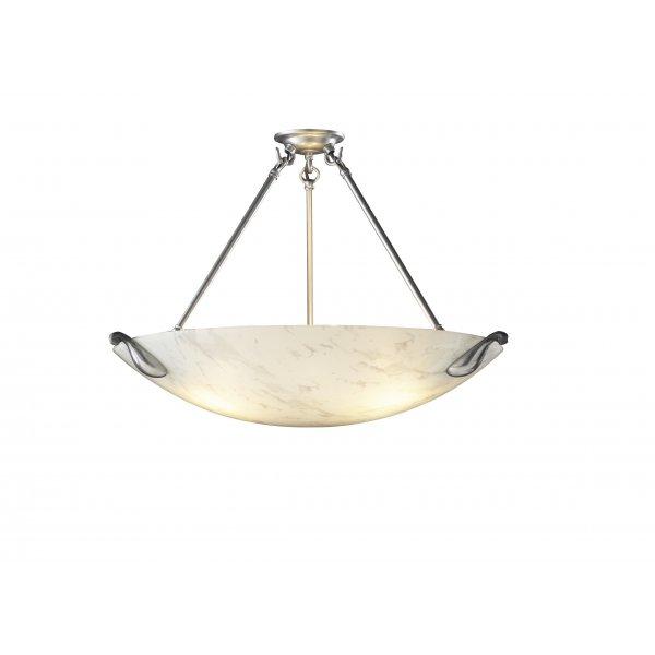 Ceiling pendant uplighter white marbled glass shade Artisan glass pendant lights