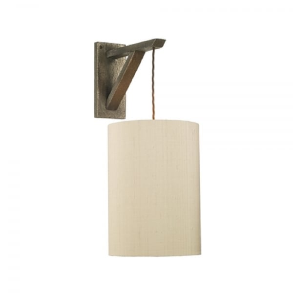 Hanging Bronze Scaffold Wall Light for Use with Vintage Bulb or Shade