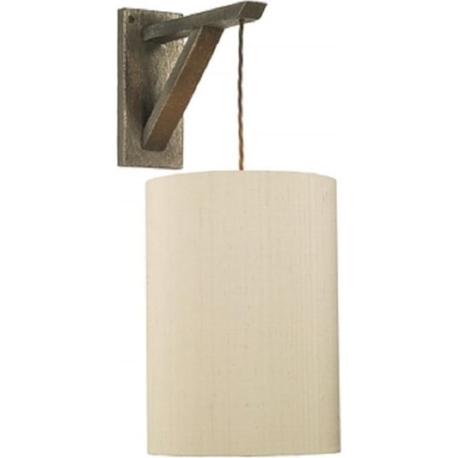 Artisan Lighting SCAFFOLD bronze wall light with braided hanging cable - fitting only