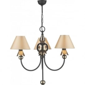 SPEARHEAD 3 light black & bronze ceiling light