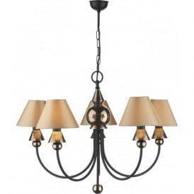 SPEARHEAD 5 light bronze & black ceiling pendant