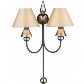 SPEARHEAD double wall light in black & bronze