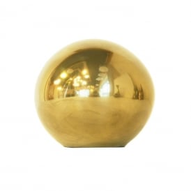 SPHERE warm brass spherical ornament - large