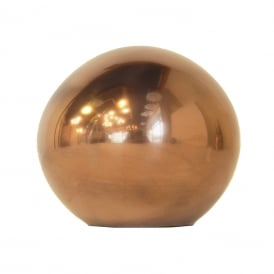 SPHERE warm copper spherical ornament - large