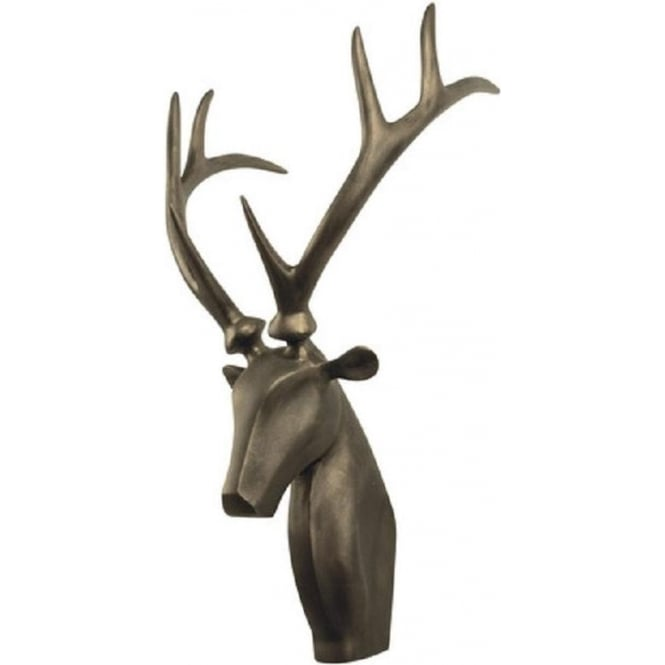Artisan Lighting STAG bronze stag head wall sculpture with antlers