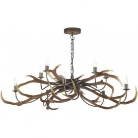 STAG large rustic antler ceiling pendant light