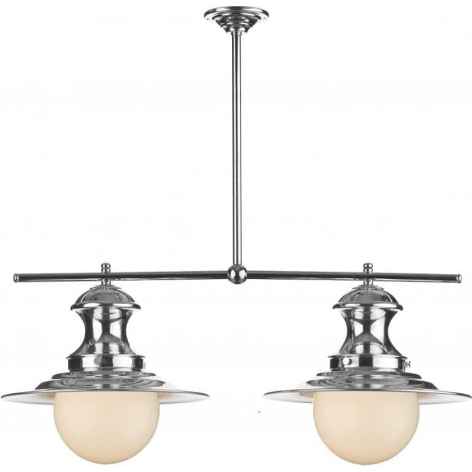 STATION LAMP Double Chrome Pendant Light For Over Table