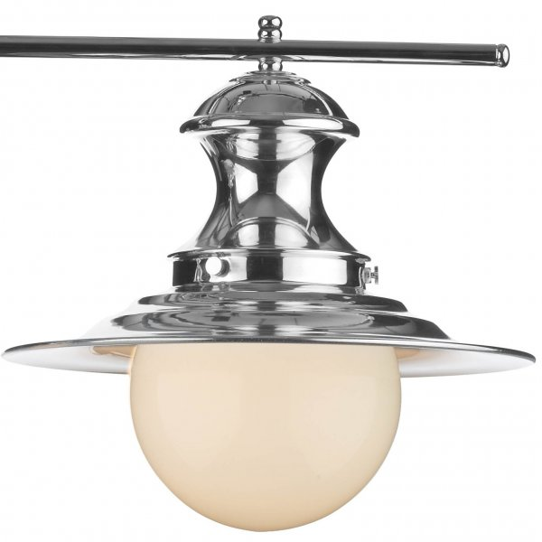 station lamp double chrome pendant light for over table. Black Bedroom Furniture Sets. Home Design Ideas