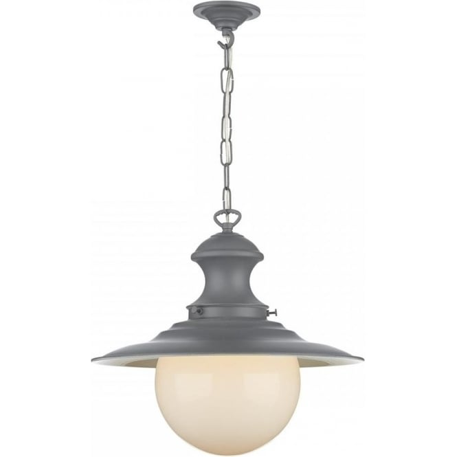 Artisan Lighting STATION LAMP replica Victorian grey ceiling pendant