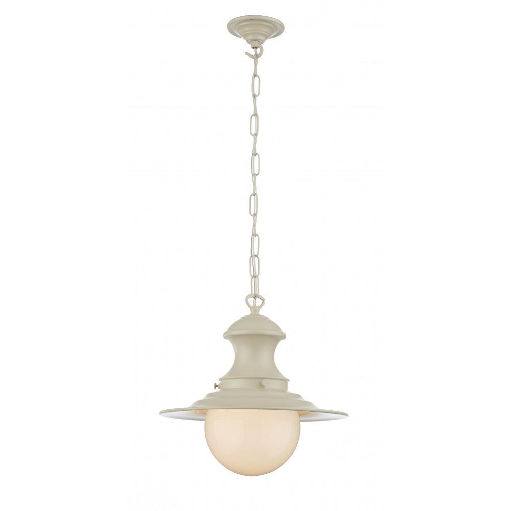 STATION LAMP Cream Ceiling Pendant Light Victorian Style