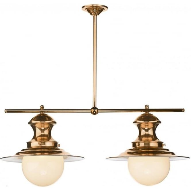 Artisan Lighting STATION LAMP traditional copper twin ceiling pendant light