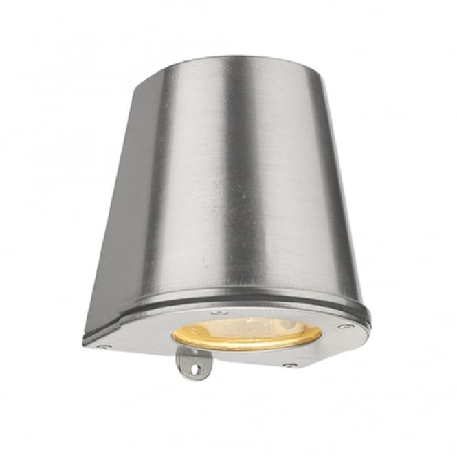 Artisan Lighting STRAIT flush fitting outdoor wall light in solid brass with nickel finish