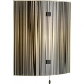 SWIRL Italian black glass curved wall panel light