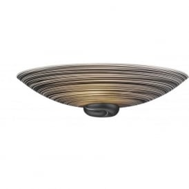 SWIRL Italian black glass uplighter wall light