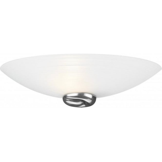 Glass Uplighter Wall Lights : Wall Light in Opal White Italian Glass, Swirl Pattern Curved Wall Light
