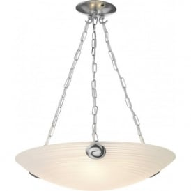 SWIRL white Italian glass uplighter ceiling pendant