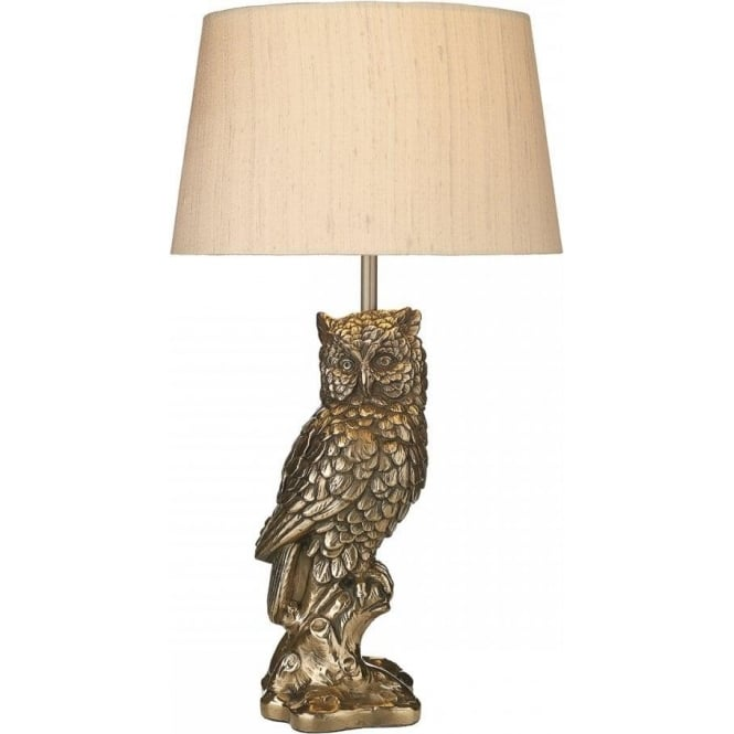 TAWNY Bronze Owl Table Lamp With Shade