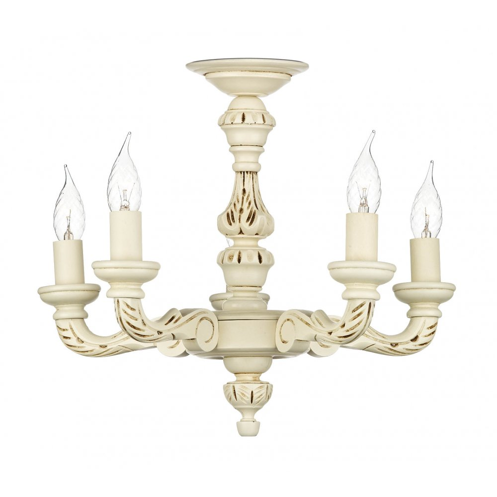 Cream ceiling light tudor distressed ivory shabby chic - Shabby chic lighting fixtures ...