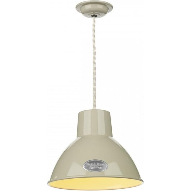 Artisan Lighting UTILITY retro style metal ceiling pendant light - small cream painted