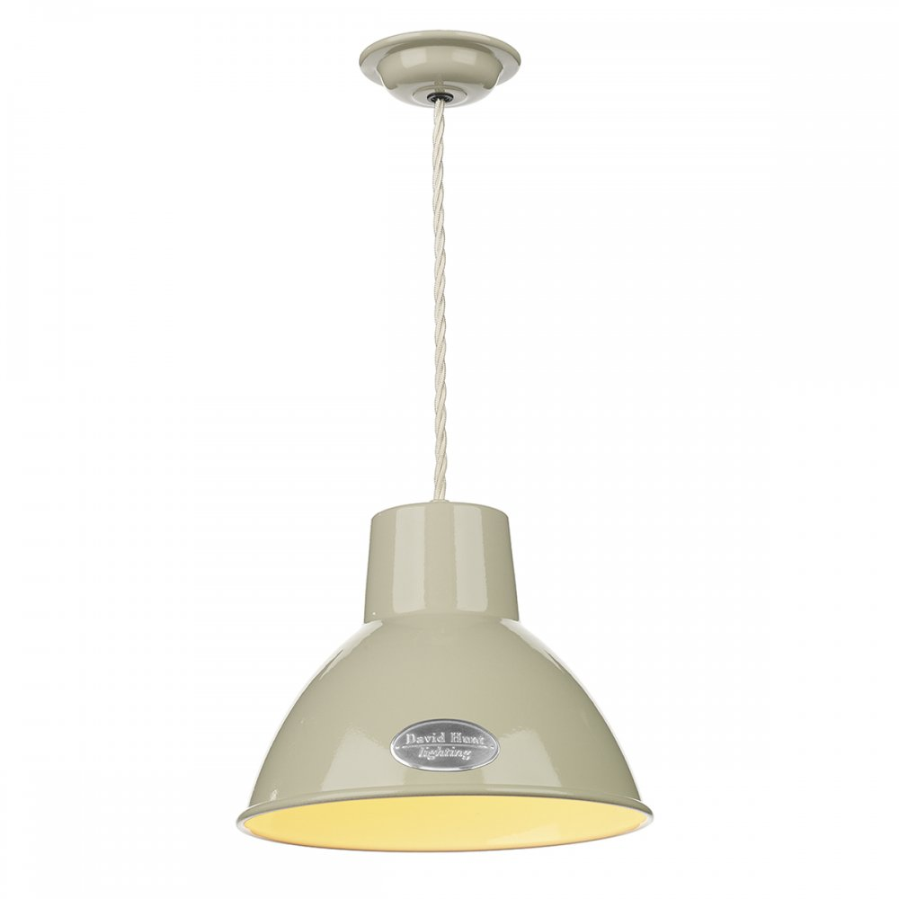 characterful retro enamel ceiling pendant light in painted