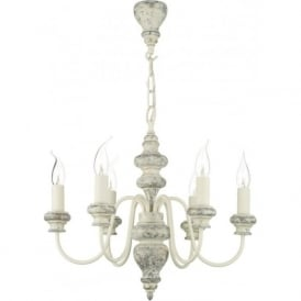 VERONA Edwardian style distressed cream ceiling pendant