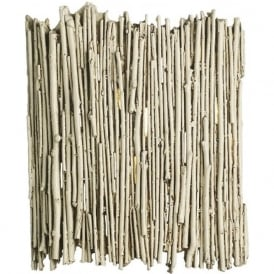WILLOW rustic distressed ivory twig wall washer light
