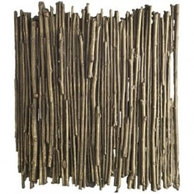WILLOW rustic gold cocoa twig wall washer light