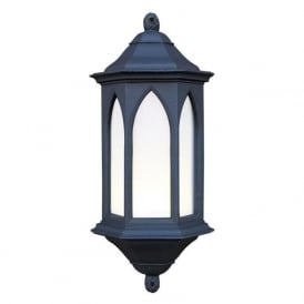 YORK Gothic style black stone outdoor wall lantern