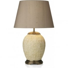 ZUCCARO small mosaic pattern table lamp with silk shade