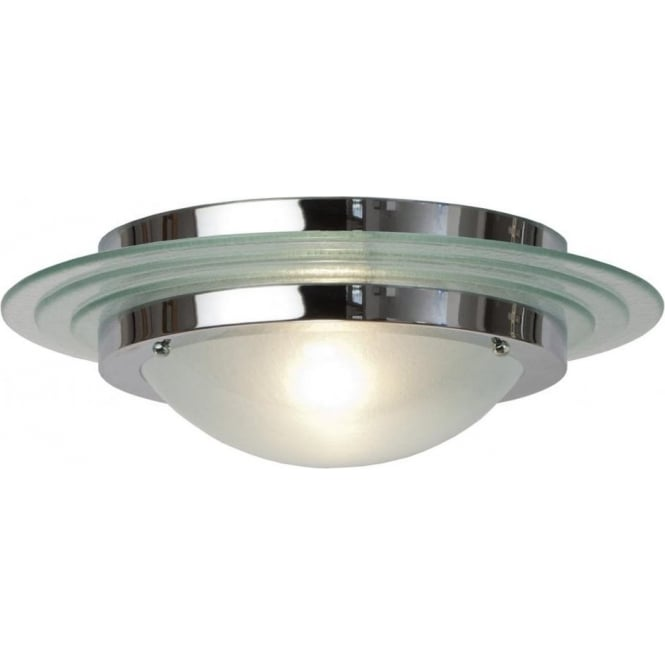 Large Art Deco Flush Fitting Circular Ceiling Light for Low Ceilings
