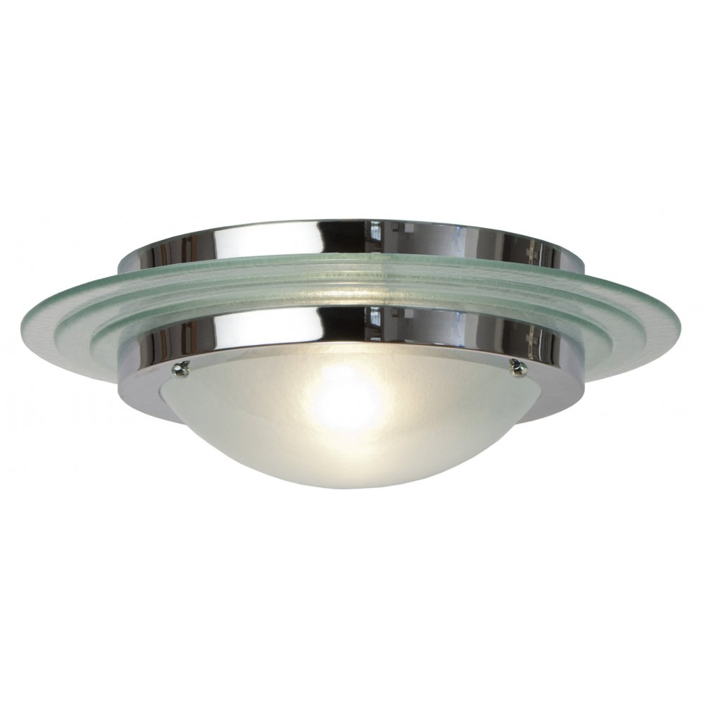 Belvedere Collection ASTRAL Art Deco flush fitting chrome and glass ...