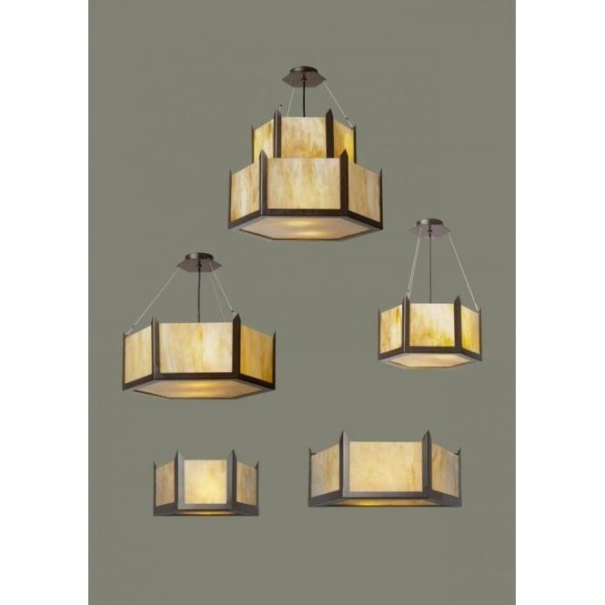 Art deco uplighter ceiling pendant with hexagonal amber marbled glass hudson amber glass art deco ceiling pendant light large aloadofball Gallery